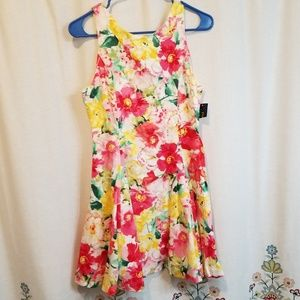 Ralph lauren polo floral fit and flare dress